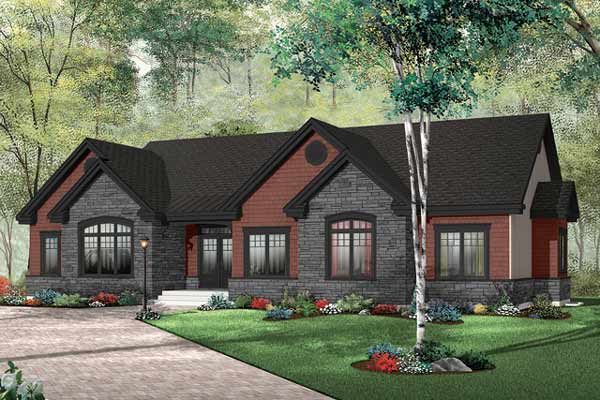 Traditional Style Home Design Plan: 5-574