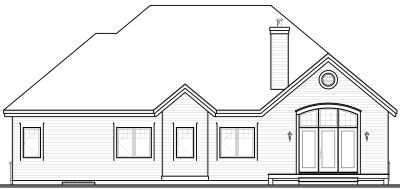 Rear Elevation Plan: 5-575
