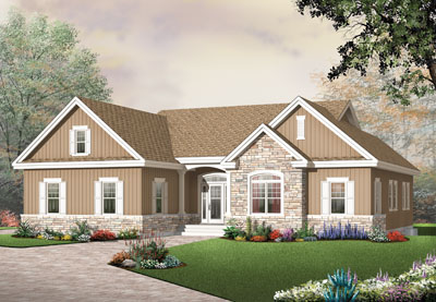 Traditional Style Home Design Plan: 5-576