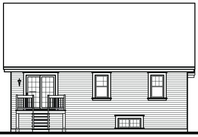 Rear Elevation Plan: 5-578