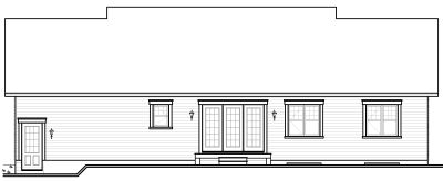 Rear Elevation Plan: 5-579
