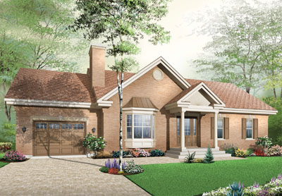 Traditional Style Home Design Plan: 5-580