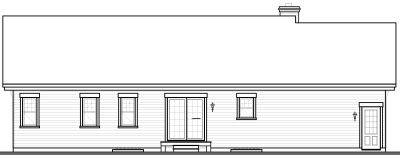 Rear Elevation Plan: 5-580