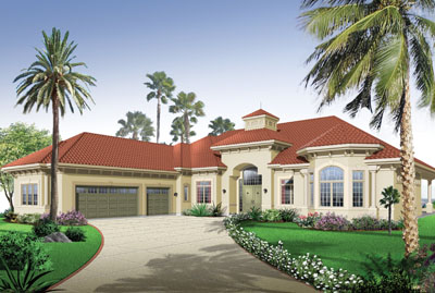 Florida Style House Plans Plan: 5-581