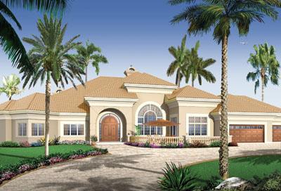 Florida Style Floor Plans Plan: 5-582