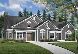 Sunbelt Style Home Design Plan: 5-584