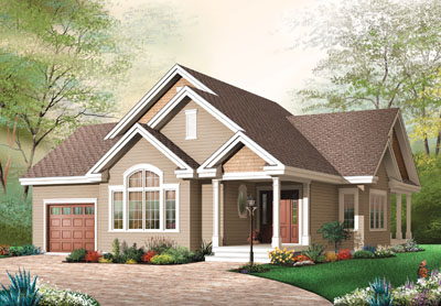 Traditional Style Home Design Plan: 5-585