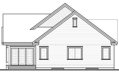 Rear Elevation Plan: 5-585