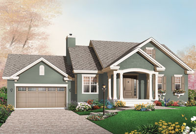 Traditional Style Home Design Plan: 5-586