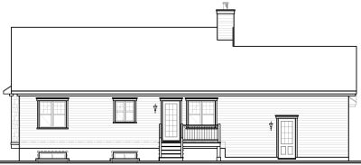 Rear Elevation Plan: 5-586