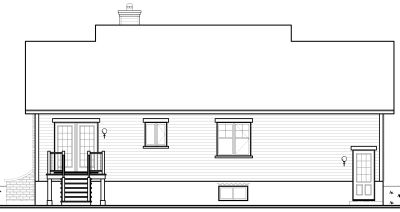Rear Elevations Plan:5-587