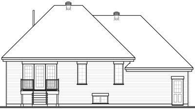 Rear Elevation Plan: 5-588