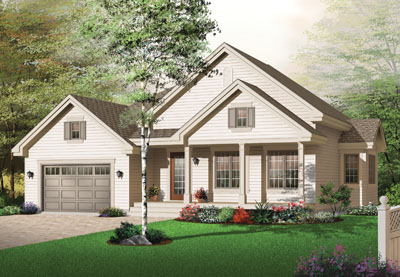 Country Style Floor Plans Plan: 5-589