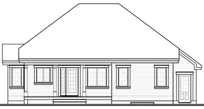 Rear Elevation Plan: 5-589