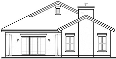 Rear Elevation Plan: 5-590