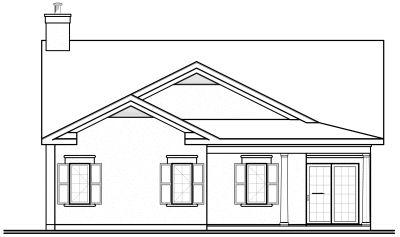 Rear Elevation Plan: 5-591