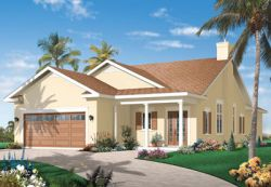Southwest Style Home Design Plan: 5-591