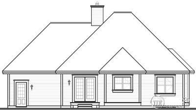 Rear Elevation Plan: 5-592