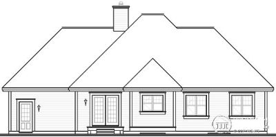 Rear Elevation Plan: 5-593