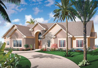 Sunbelt Style House Plans Plan: 5-594