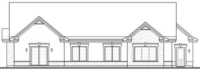Rear Elevation Plan: 5-594