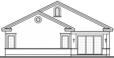 Rear Elevation Plan: 5-595