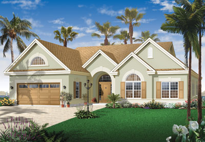 Sunbelt Style House Plans Plan: 5-596
