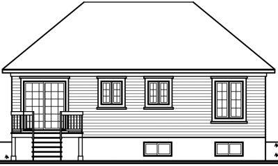 Rear Elevations Plan:5-597