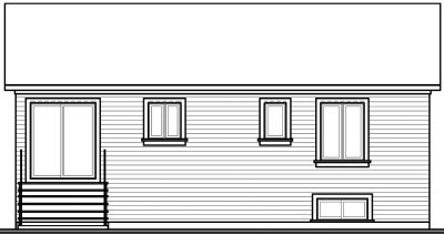 Rear Elevation Plan: 5-598