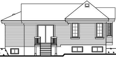 Rear Elevation Plan: 5-599