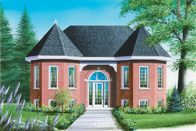 European Style House Plans Plan: 5-601