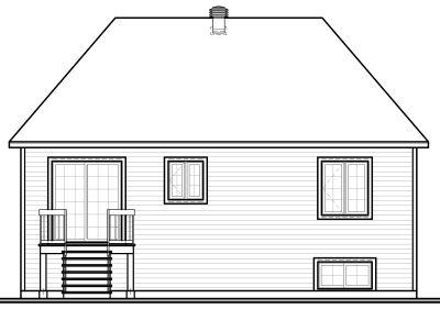 Rear Elevation Plan: 5-601