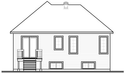 Rear Elevation Plan: 5-602