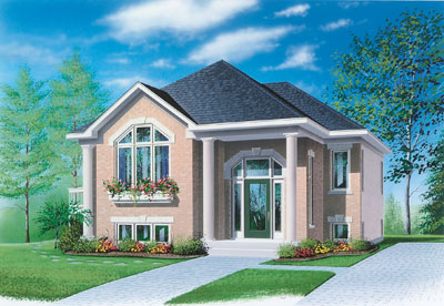 European Style Home Design Plan: 5-603