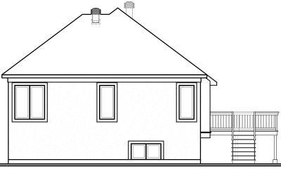 Rear Elevation Plan: 5-603