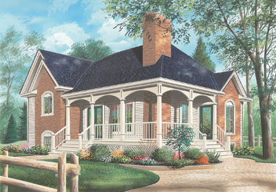 Country Style House Plans Plan: 5-605