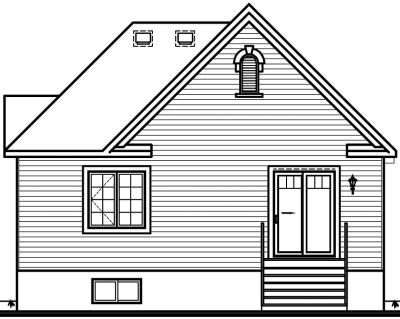 Rear Elevation Plan: 5-606