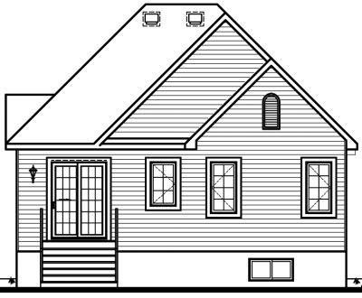 Rear Elevation Plan: 5-608
