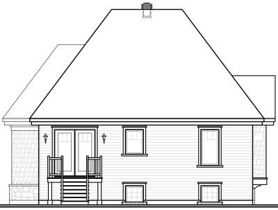 Rear Elevations Plan:5-609
