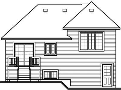 Rear Elevation Plan: 5-611