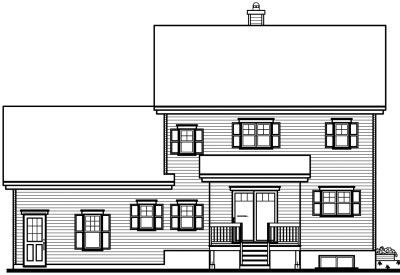 Rear Elevation Plan: 5-612
