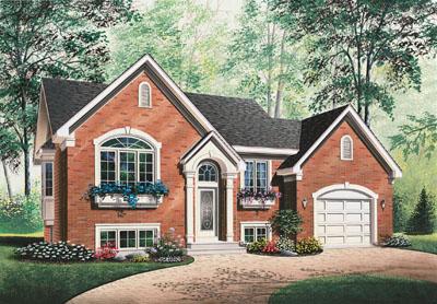 European Style Home Design Plan: 5-613