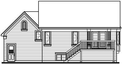 Rear Elevation Plan: 5-613