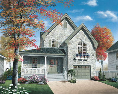 Country Style Home Design Plan: 5-615