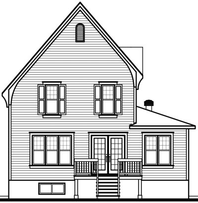 Rear Elevation Plan: 5-615