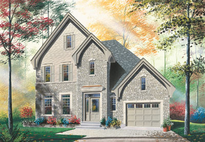 European Style House Plans Plan: 5-617