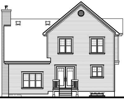 Rear Elevation Plan: 5-619