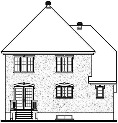 Rear Elevation Plan: 5-620