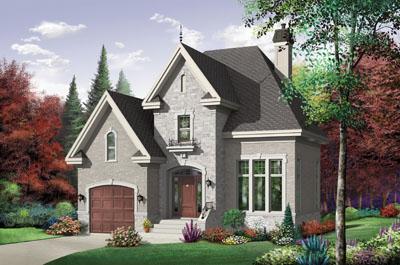 European Style Home Design Plan: 5-621