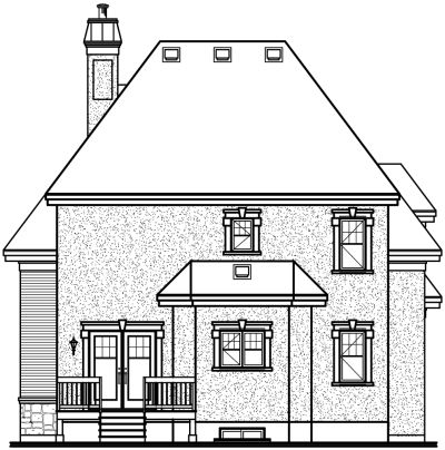 Rear Elevation Plan: 5-621